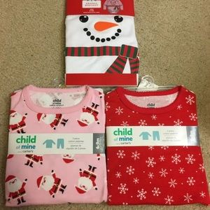 Bundle girls 6-9m Christmas pajamas